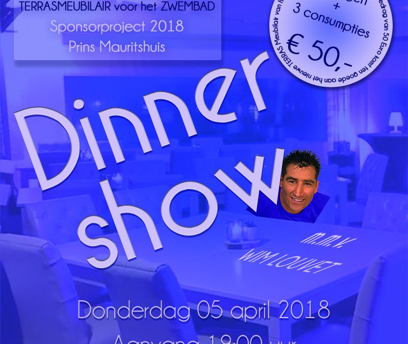 Dinnershow 5 april 2018